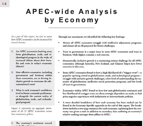 APEC – wide Analysis by Economy