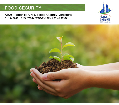 ABAC 2020 Letter to APEC Food Security Ministers