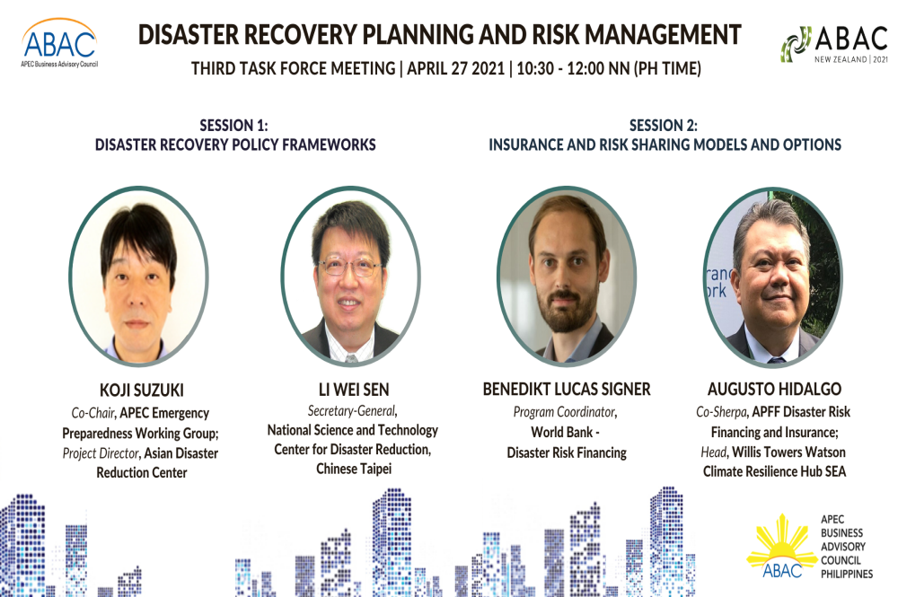 ABAC's Disaster Recovery Task Force zooms in on Policy Frameworks and Risk Financing